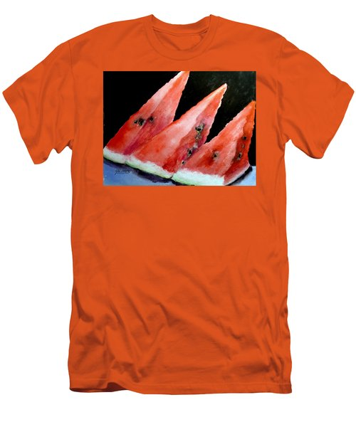 Beautiful Summer Watermelon  Men's T-Shirt (Slim Fit) by Carol Grimes