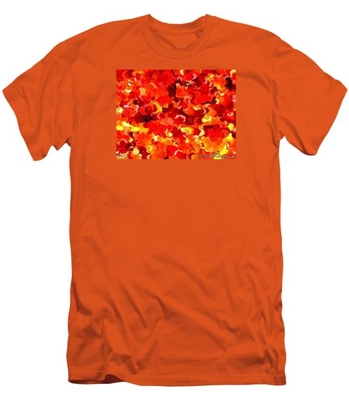 Men's T-Shirt (Slim Fit) featuring the painting Beautiful Sunrise by Holley Jacobs
