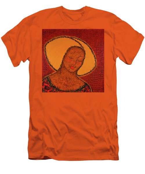 Men's T-Shirt (Slim Fit) featuring the mixed media Beauty Of Silence by Gloria Rothrock