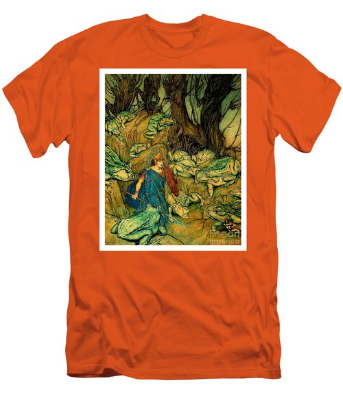 Men's T-Shirt (Athletic Fit) featuring the painting Becuma Of The White Skin 1920 Medieval Irish Mythology by Peter Gumaer Ogden