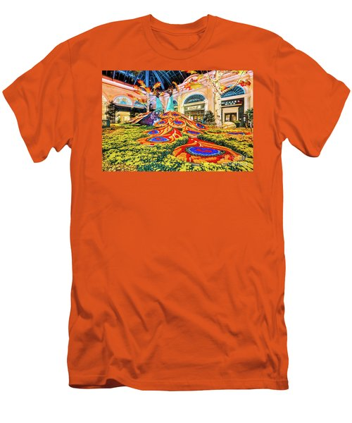 Bellagio Conservatory Fall Peacock Display Side View Wide 2017 Men's T-Shirt (Athletic Fit)