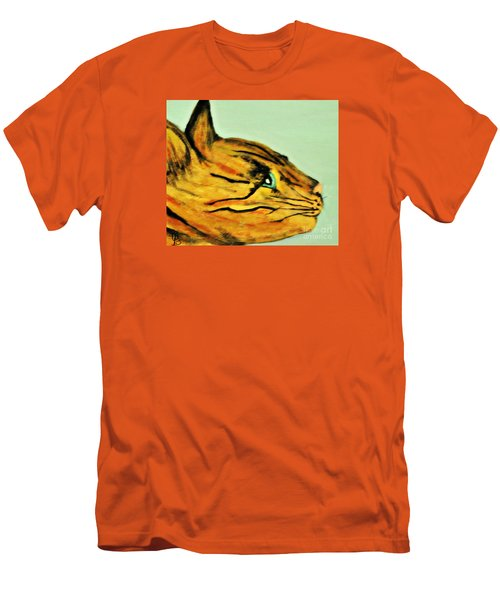 Men's T-Shirt (Slim Fit) featuring the painting Bengal Kitty  by Mindy Bench