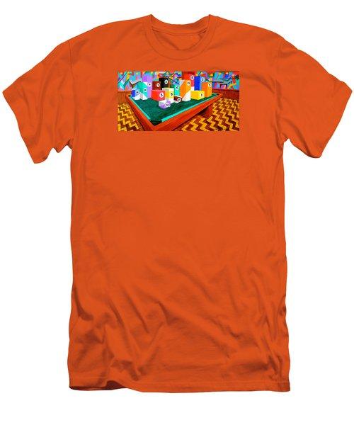 Billiard Table Men's T-Shirt (Athletic Fit)