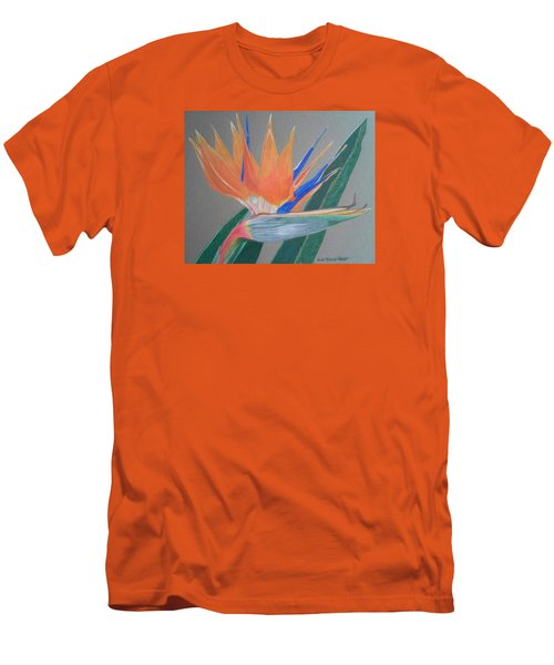 Bird Of Paradise Men's T-Shirt (Slim Fit) by Anita Putman