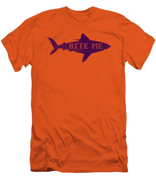Bite Me Men's T-Shirt (Slim Fit) by Michelle Calkins
