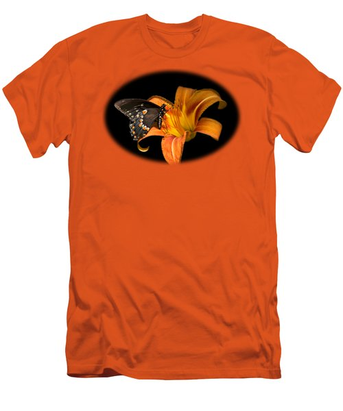 Black Beauty Butterfly Men's T-Shirt (Slim Fit) by Christina Rollo