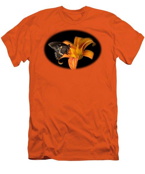 Black Beauty Butterfly Men's T-Shirt (Athletic Fit)