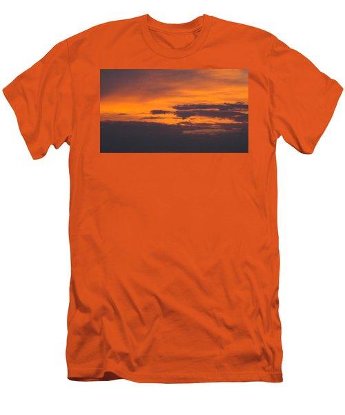 Black Cloud Sunset  Men's T-Shirt (Slim Fit) by Don Koester
