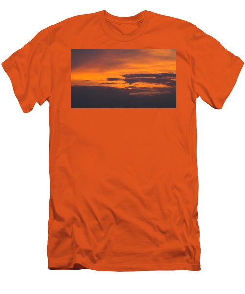 Black Cloud Sunset  Men's T-Shirt (Athletic Fit)