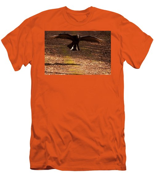 Black Vulture Landing Men's T-Shirt (Slim Fit) by Chris Flees