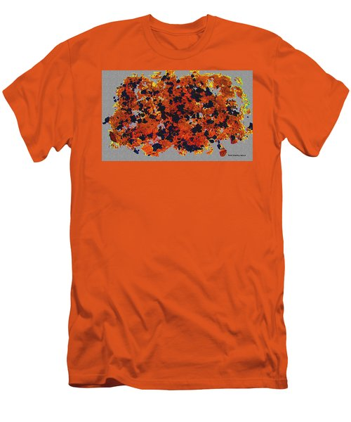 Black Walnut Ink Abstract With Splats Men's T-Shirt (Athletic Fit)