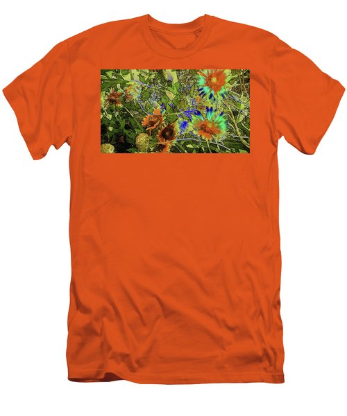 Men's T-Shirt (Slim Fit) featuring the photograph Blanket Flower II by Donna G Smith