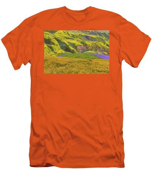 Men's T-Shirt (Slim Fit) featuring the photograph Blazing Star On Temblor Range by Marc Crumpler