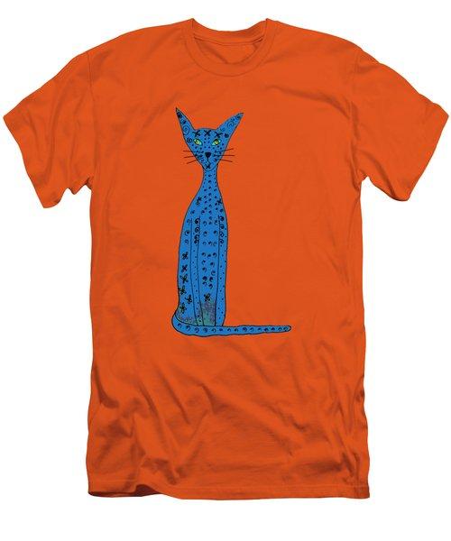 Blue Cat Men's T-Shirt (Athletic Fit)