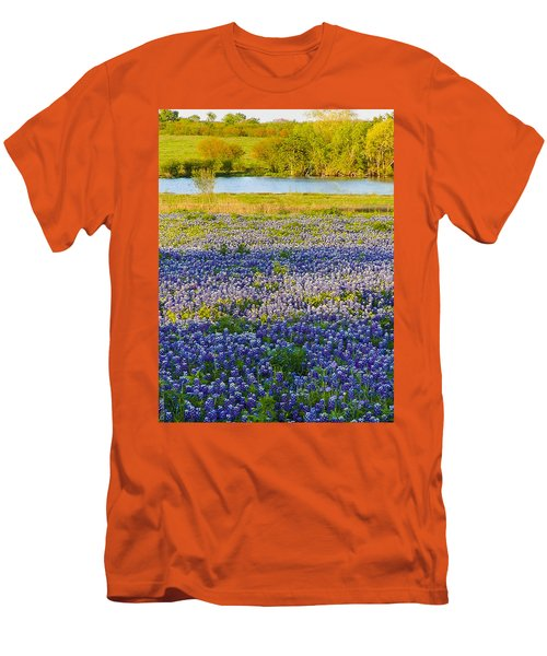Bluebonnet Field Men's T-Shirt (Athletic Fit)