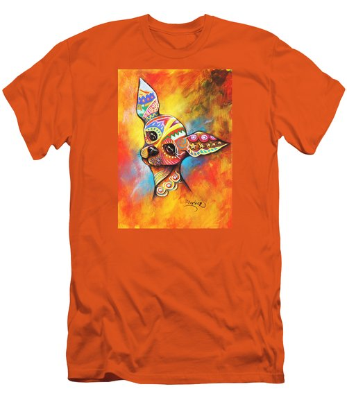 Chihuahua Men's T-Shirt (Slim Fit) by Patricia Lintner