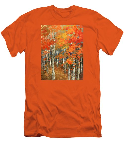 Men's T-Shirt (Slim Fit) featuring the painting Bold Banners by Tatiana Iliina