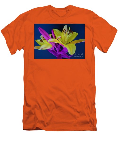 Men's T-Shirt (Slim Fit) featuring the photograph Bold Beautiful Flowers by Ray Shrewsberry