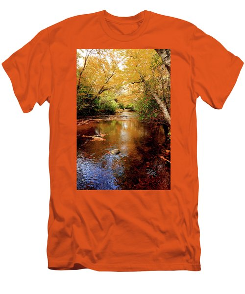 Men's T-Shirt (Slim Fit) featuring the photograph Boone Fork Stream by Meta Gatschenberger