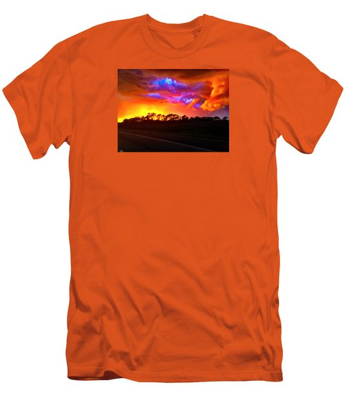 Men's T-Shirt (Slim Fit) featuring the photograph Borderline by Zafer Gurel