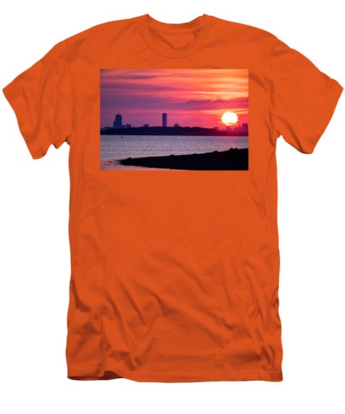 Boston Skyline Worlds End Men's T-Shirt (Athletic Fit)