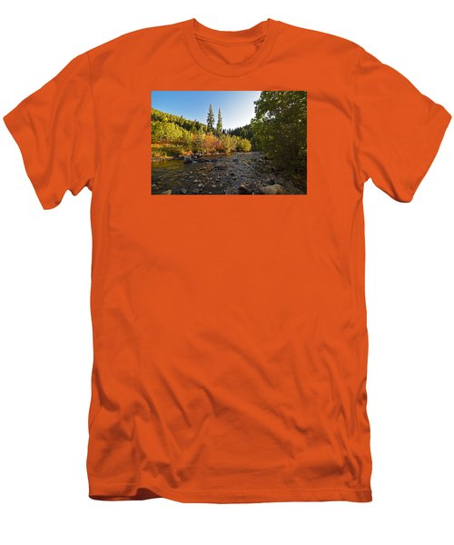 Boulder Colorado Canyon Creek Fall Foliage Men's T-Shirt (Athletic Fit)