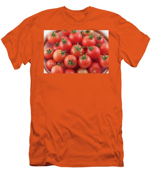 Men's T-Shirt (Athletic Fit) featuring the photograph Bowl Of Cherry Tomatoes by James BO Insogna