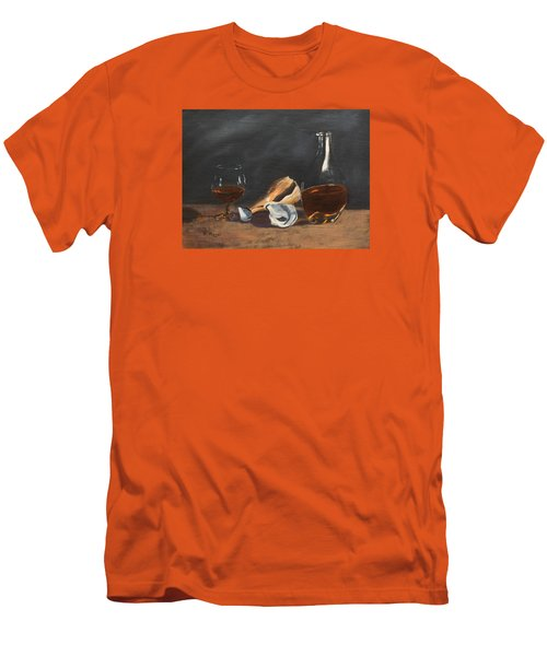 Brandy With Shells Men's T-Shirt (Slim Fit) by Alan Mager