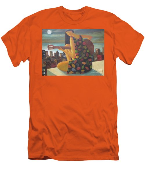 Men's T-Shirt (Slim Fit) featuring the painting Brazil by Glenn Quist