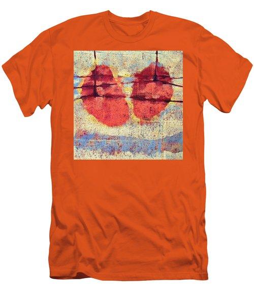 Breathe Men's T-Shirt (Slim Fit) by Maria Huntley