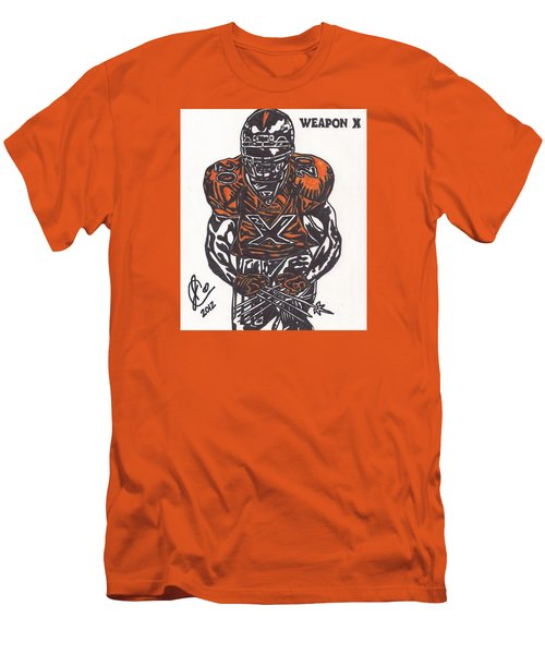 Men's T-Shirt (Slim Fit) featuring the drawing Brian Dawkins by Jeremiah Colley