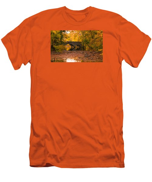 Men's T-Shirt (Slim Fit) featuring the photograph Bridge Of Gold by Cathy Donohoue