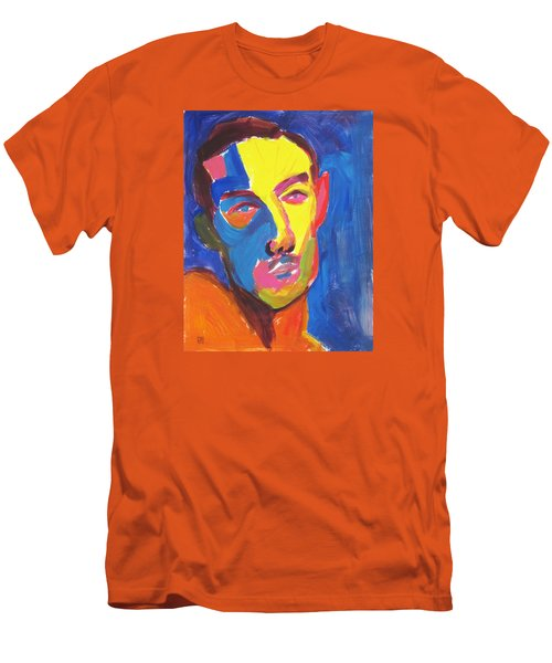 Men's T-Shirt (Slim Fit) featuring the painting Bryan Portrait by Shungaboy X