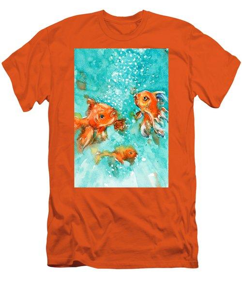 Bubbles Men's T-Shirt (Slim Fit) by Judith Levins