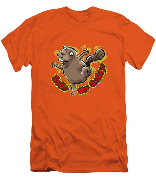 Buck Up Bucky Men's T-Shirt (Slim Fit) by Chas Sinklier
