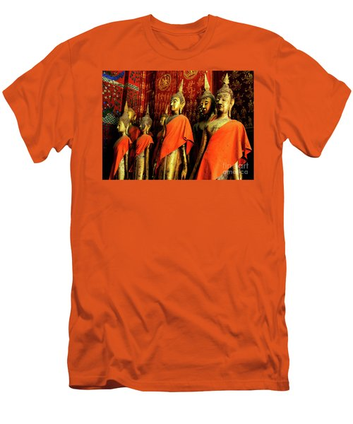 Men's T-Shirt (Slim Fit) featuring the photograph Buddha Laos 2 by Bob Christopher