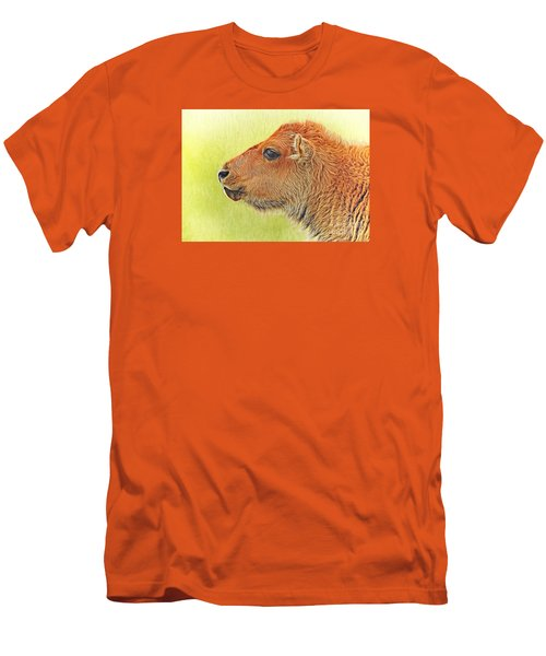 Buffalo Calf Two Men's T-Shirt (Slim Fit) by Suzanne Handel