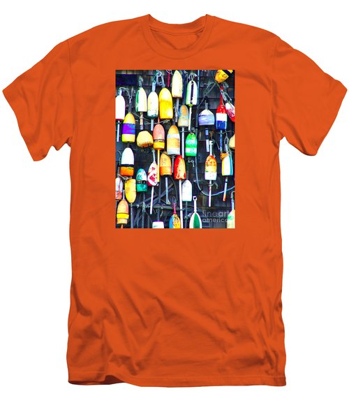 Men's T-Shirt (Slim Fit) featuring the photograph Buoy Art by Bill Holkham