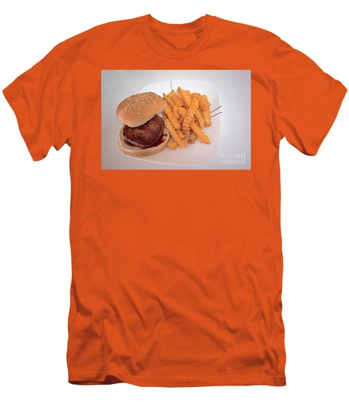 Burger And Fries Men's T-Shirt (Slim Fit) by Anne Rodkin