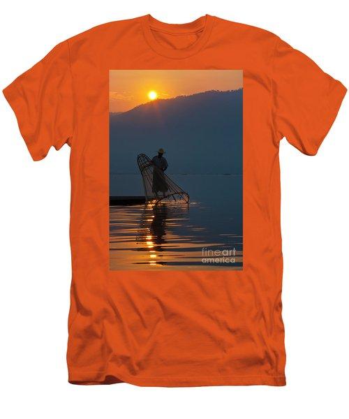 Men's T-Shirt (Slim Fit) featuring the photograph Burma_d143 by Craig Lovell
