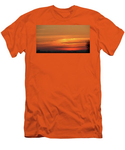 Burning Sunset Men's T-Shirt (Athletic Fit)