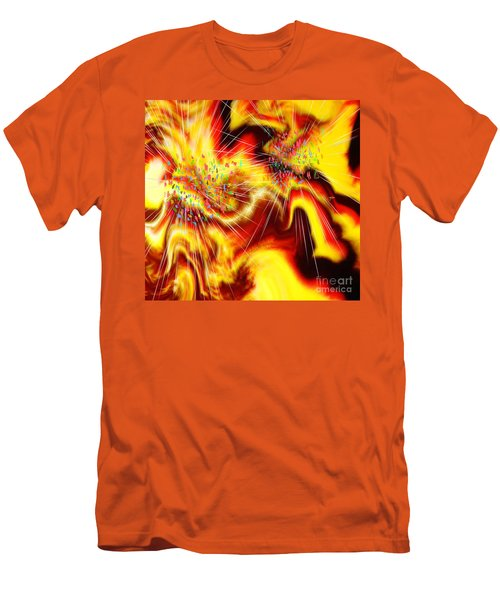 Burst Of Energy Men's T-Shirt (Athletic Fit)
