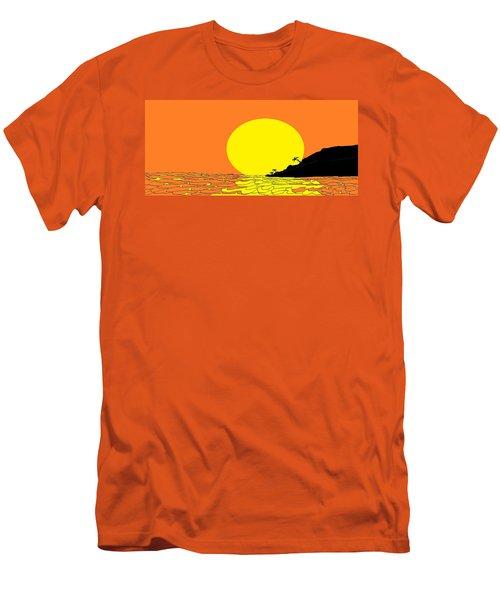 Burst Of Yellow Men's T-Shirt (Athletic Fit)