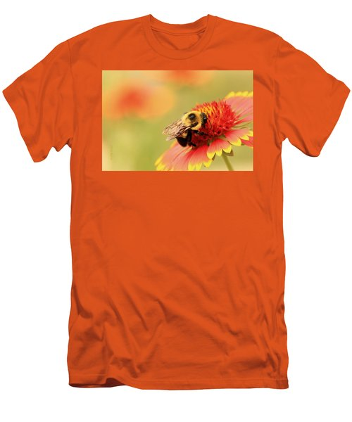 Men's T-Shirt (Slim Fit) featuring the photograph Busy Bumblebee by Chris Berry