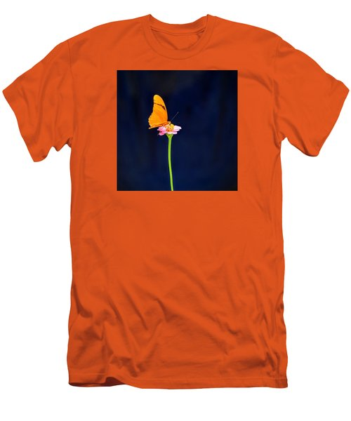 Men's T-Shirt (Slim Fit) featuring the photograph Butterfly Bloom by Mary Zeman