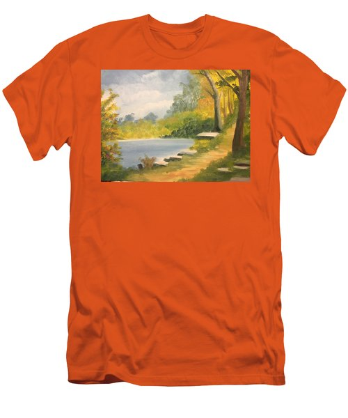 By The Lake Men's T-Shirt (Athletic Fit)