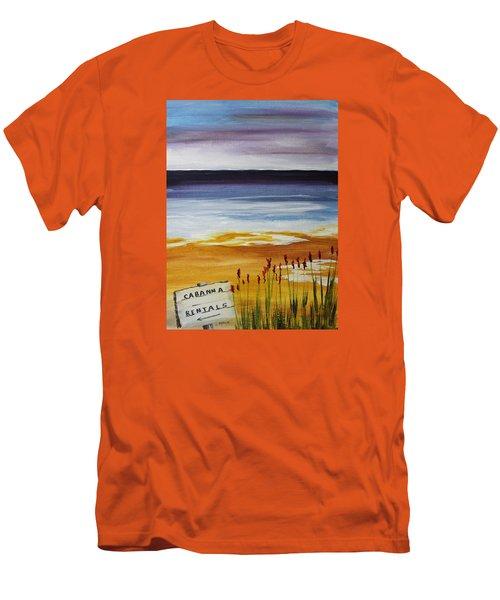 Cabana Rental Men's T-Shirt (Slim Fit) by Jack G  Brauer