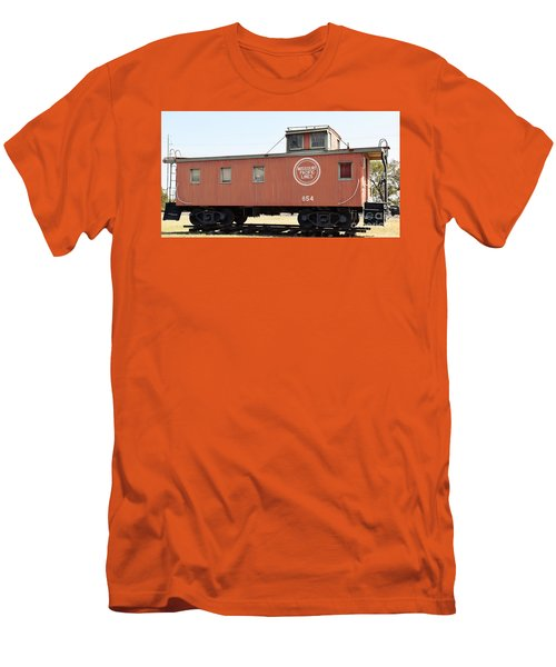 Men's T-Shirt (Slim Fit) featuring the photograph Caboose by Ray Shrewsberry