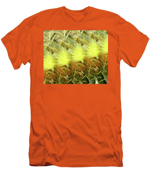 Men's T-Shirt (Slim Fit) featuring the photograph Cactus Flowers by Kathy Bassett