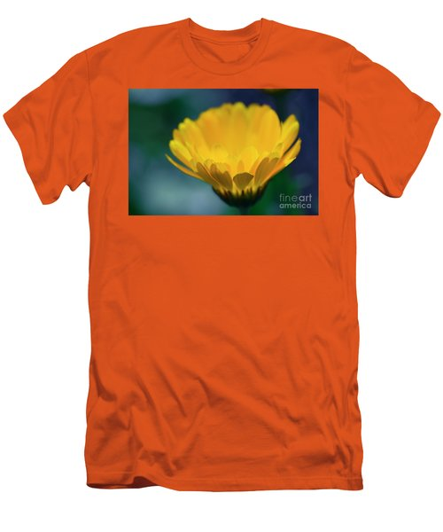 Men's T-Shirt (Slim Fit) featuring the photograph Calendula by Sharon Mau